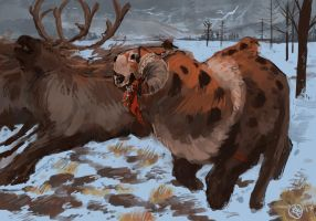 Competition - Reindeer #1 by Myrfivel