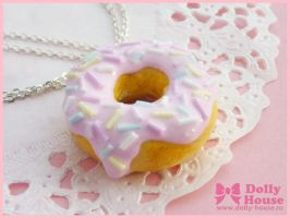Sweet Donut Necklace by Dolly House by SweetDollyHouse