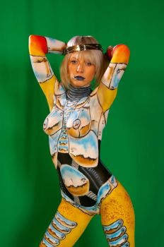 Chrome Plated Girl 03 by marshon