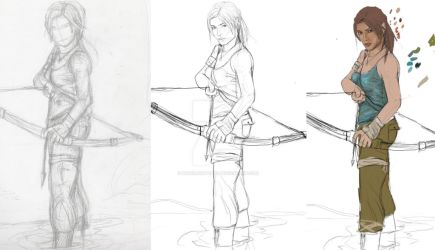 Early Stages. Lara Reborn by Pencilsketches