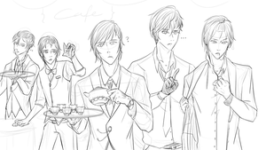 [WIP] OCs as butlers by Zerojjsu