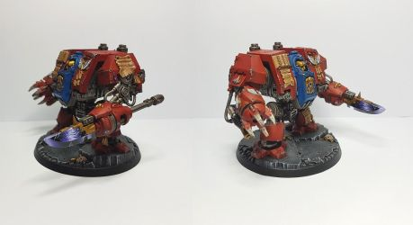 Blood Angels - Dreadnought Librarian 2 by TheWayOfTempest