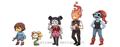 Undertale Fave Characters by Extremol