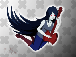 Marceline's guitar by Anda-san