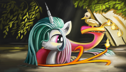 In the forest by Auroriia