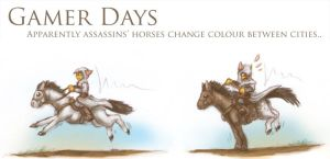Gamer Days - AC: Colour Horses by 13blackdragons