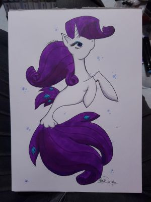 SeaPony Rarity by Bella-Mia-D
