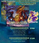 2019 Zodiac Dragons Calendar Pre-Order Exclusives by The-SixthLeafClover