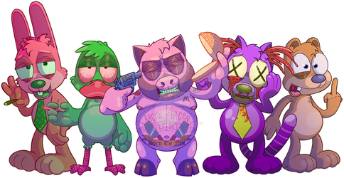 The Party Animals by GaryGuidrozArts