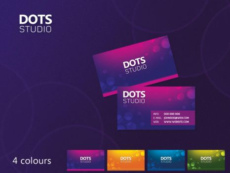 Dots business cards by czaker