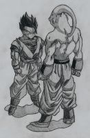 Mystic Gohan and Super Buu by YoungTalent93