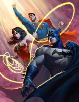 JLA trinity by AlexPascenko