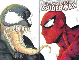 amazing spiderman sketch cover by camillo1988