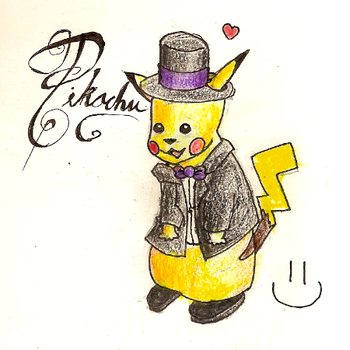 PIKACHUU by evictorial