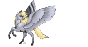Derpy (colored sketch) by AbLM