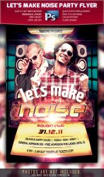 Let's Make Noise Flyer Template by squizmo
