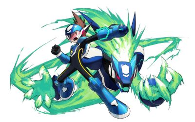 Shooting Star Rockman by inualet