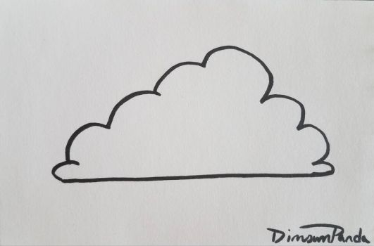 Inktober 2017 Oct 19 Cloud by DimsumPanda