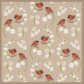 Brown capped rosy finch pattern by pikaole