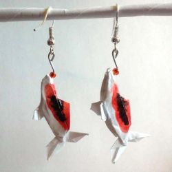 Origami Koi earrings by okamitsuki