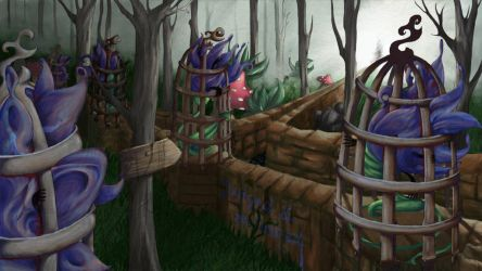 The forrest of cages by MissTentacle
