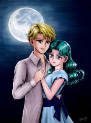 Sailor Moon - Harumichi Night at the Park by TheKissingHand