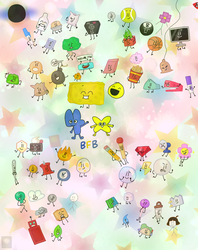 BFB: lot of objects by Yukan0429