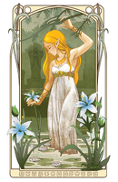 Zelda and the Spring of Power - Breath of the Wild by Sabtastic