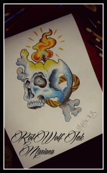 Skull by rotwolf93