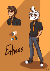 Erkaes Character Redesign by LadyGraine