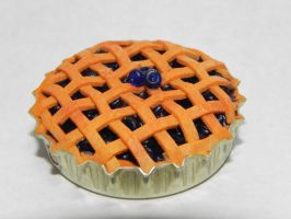 Blueberry Pie Polymer Clay by Pandannabelle