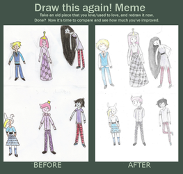 Before and After~ Adventure Time by journster
