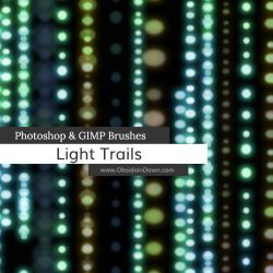 Light Trails Photoshop and GIMP Brushes by redheadstock