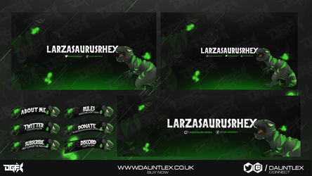LarzasaurusRhex Twitch Stream set by DauntlexGFX