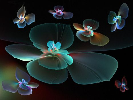 A collection of tropical butterflies. by Kondratij