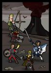Fellowship of the Ring at Black Gates by Allodoxa85