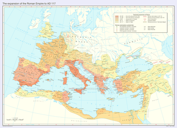The expansion of the Roman Empire to AD 117 by Undevicesimus