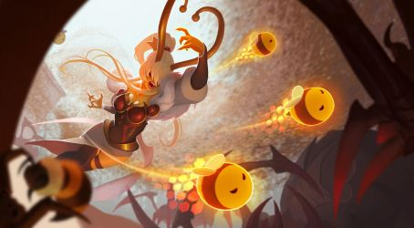 Riot Polycount 2017: Queen Bee Syndra by Shockowaffel