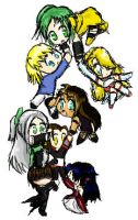 Chibi Engloids Latter by VenusLilly
