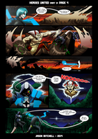 DU: HEROES UNITED PAGE 3-4 by VexVersion