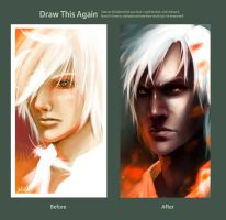 Draw this again... 'Fire' by Elle-H