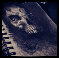 Charcoal Skull by MonteyRoo