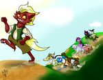 Brony D and D Chasing Imortillo by Lightning-Bliss