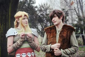 HTTYD ~ Hiccup and Astrid II by Yamato-Leaphere