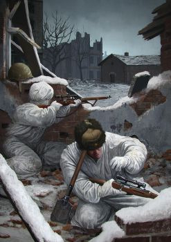Stalingrad Snipers by EthicallyChallenged