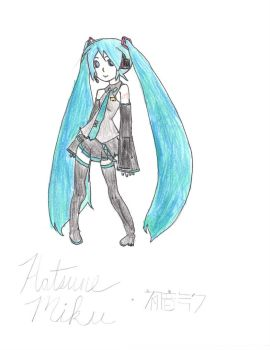 Miku (1) Redraw by Miku by Lily-the-Vocaloid