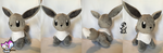 Shiny Minky Eevee by Ami-Plushies