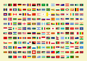Flags of all countries in the world (202) by matritum