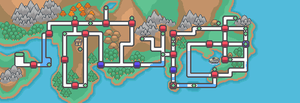 Kanto and Johto Region Maps Remade by malice936