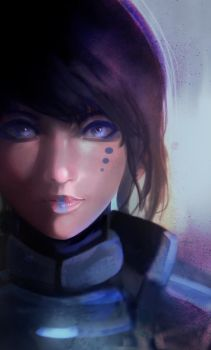 Portrait of Scifi girl by Daidus
